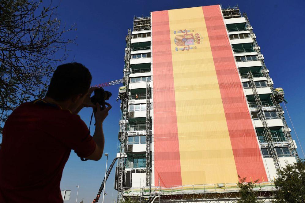 Foto: La bandera de Valdebebas. (EFE)