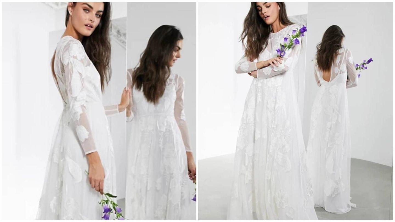 Vestido de novia low cost de Asos. (Cortesía)