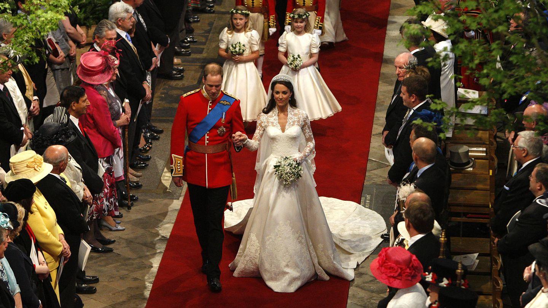 Un instante de la boda de los duques de Cambridge. (Getty)