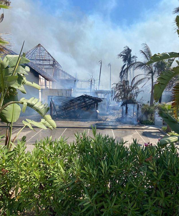 Foto: Incendio en varios hoteles de Estepona. (EC)