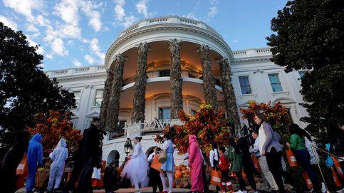 Trump y Melania celebran Halloween rodeados de niños