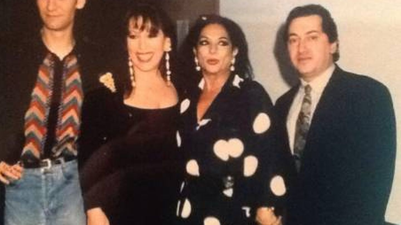 Emilio y Massiel, con Lola Flores y Carlos Berlanga. (Cortesía)