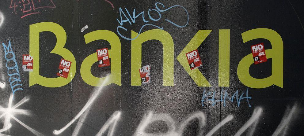 Foto: El logo de Bankia en una pared en Madrid (Reuters)