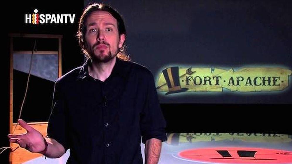 Foto: Pablo Iglesias, durante la grabación del programa.
