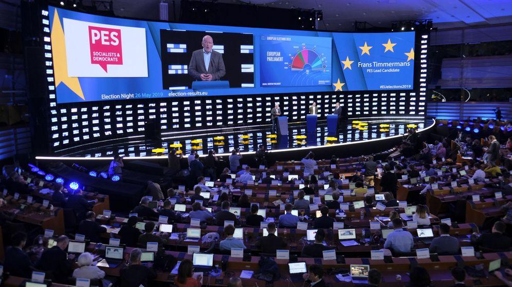 Foto: Rueda de prensa en el Parlamento Europeo. (Reuters)