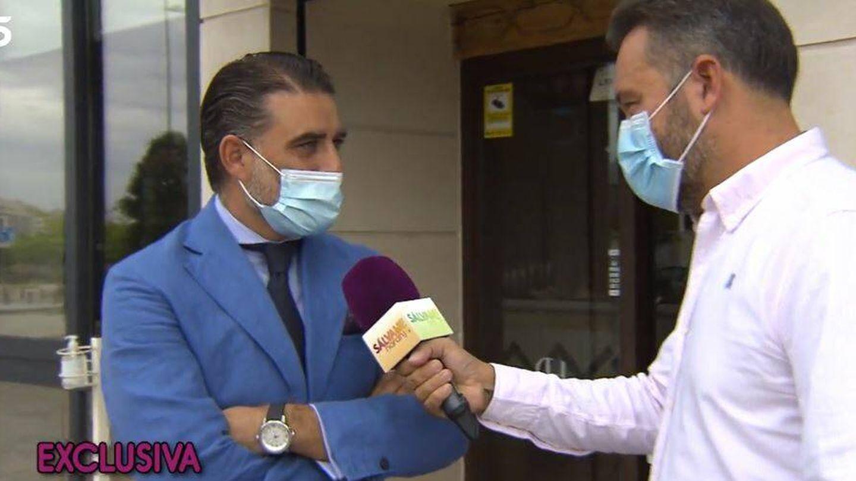 Matías Urrea habla con Kike Calleja para 'Sálvame'. (Mediaset España)
