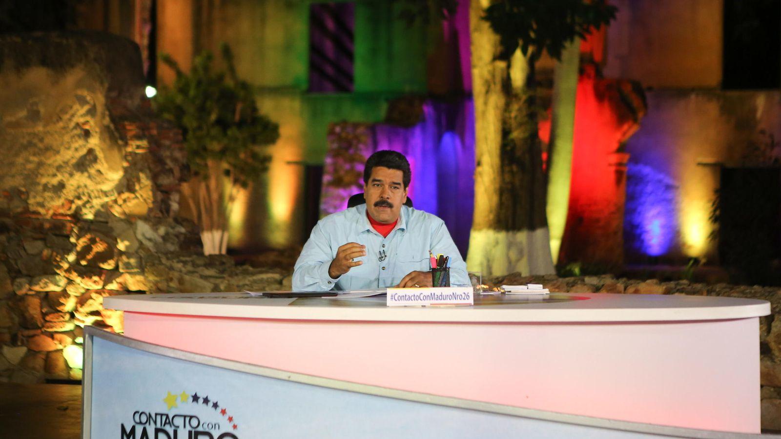 Foto: Nicolás Maduro, en una de sus alocuciones televisivas. (Efe)