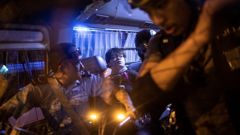 Cancelan las protestas en Hong Kong tras la detención de tres destacados activistas