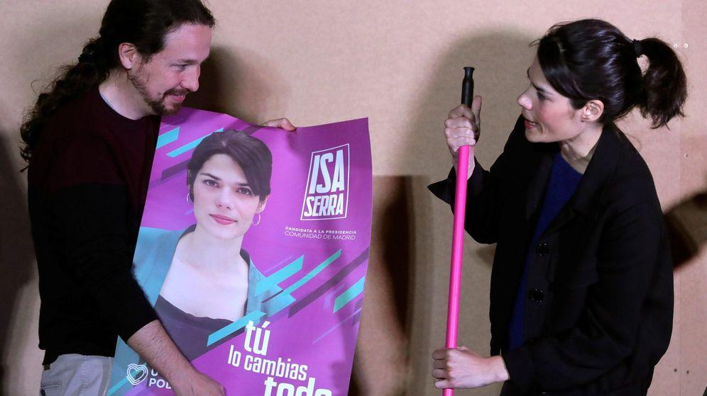 Foto: Pablo Iglesias e Isabel Serra, en la apertura de campaña de Unidas Podemos. (EFE)