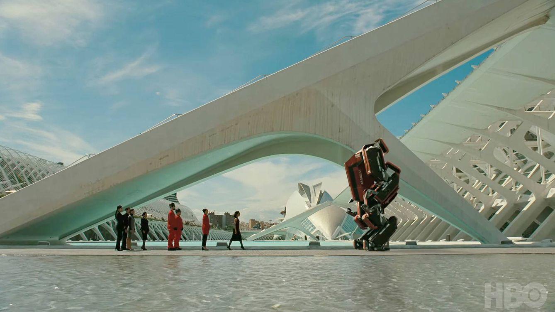 Foto: Fotograma de 'Westworld 3' con Valencia como escenario. (HBO)