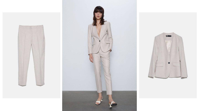 Traje de chaqueta de Zara. (Cortesía)