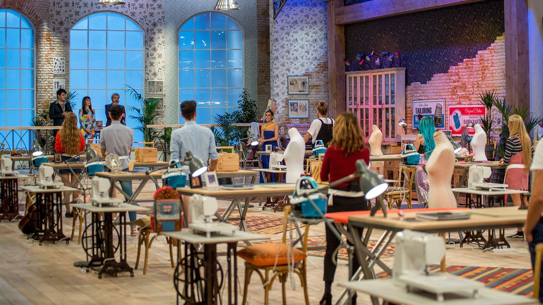El taller de 'Maestros de la costura'. (TVE)