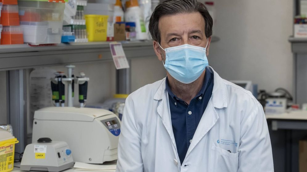 Foto: Luis Álvarez-Vallina, en el Hospital 12 de Octubre. (FBBVA)