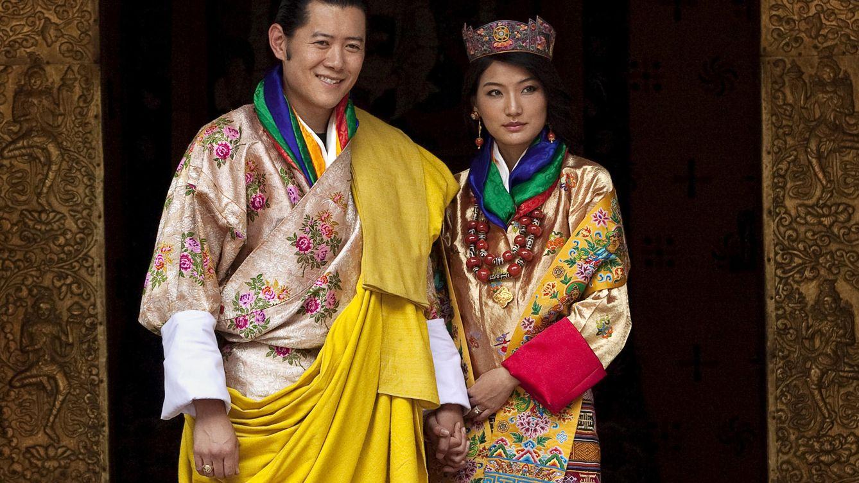 Foto: Los reyes de Bután el día de su boda (Gtres)