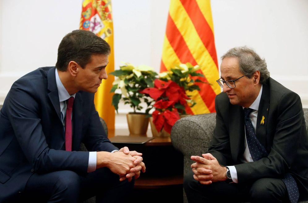Foto:  Pedro Sánchez y Quim Torra durante su reunión del pasado 20 de diciembre en Pedralbes, Barcelona. (EFE)
