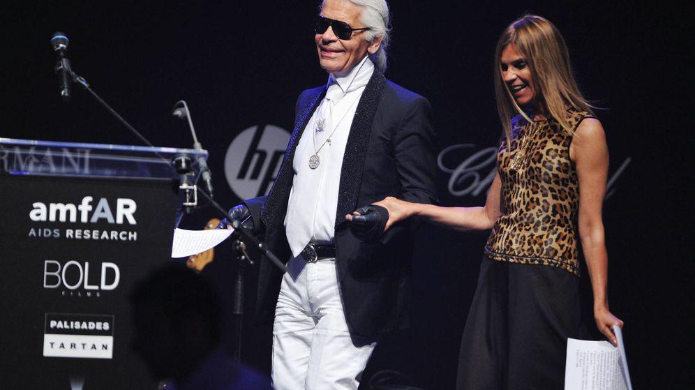 Foto: Karl Lagerfeld y Carine Roitfeld. (Getty)