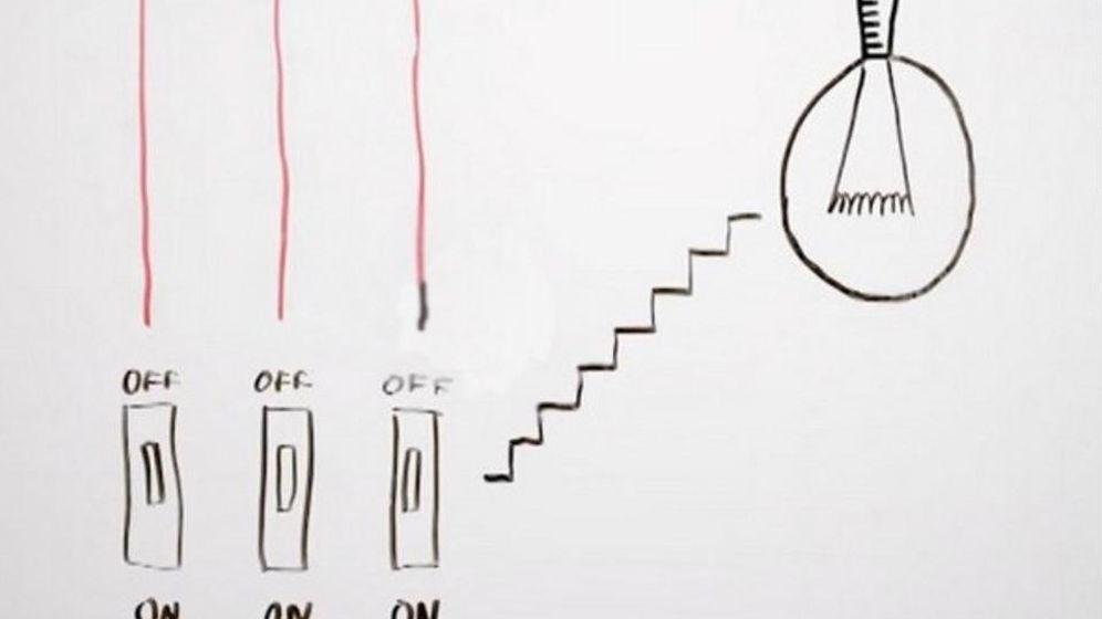 Foto: ¿Cuál es el interruptor que enciende la lámpara?