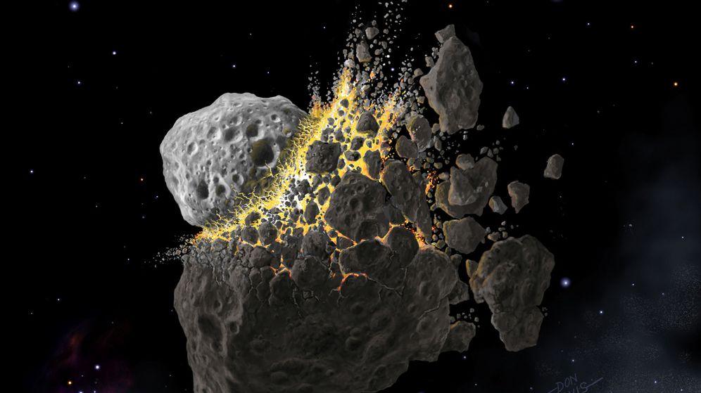 Foto: Una ilustración de archivo del impacto entre dos cuerpos rocosos. (Reuters)