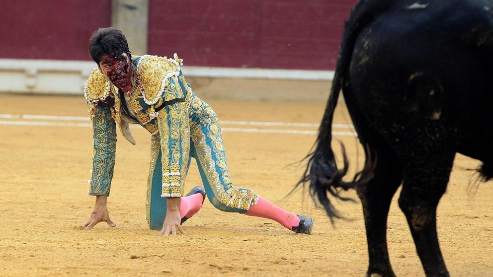 Cayetano Rivera, herido grave por una cornada en Zaragoza
