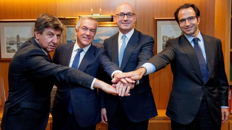 De izq. a dcha.: Gabriel Alonso, Joaquín Arenas , Jesús Nuño de la Rosa y Olaf Díaz-Pintado. (EFE)