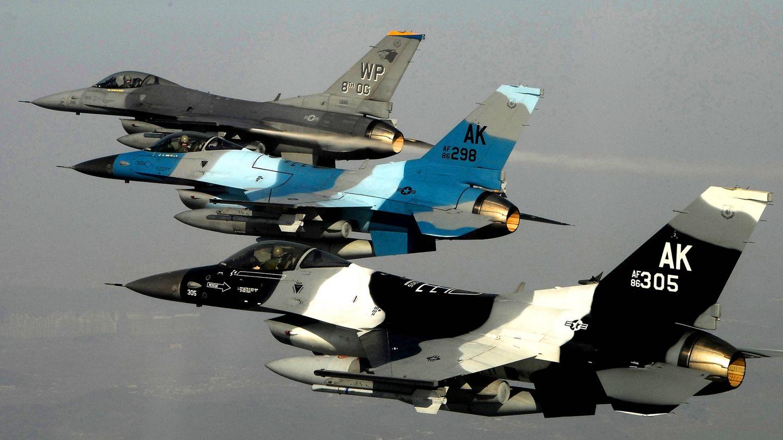 F-16 Block 30 de la USAF. (USAF)