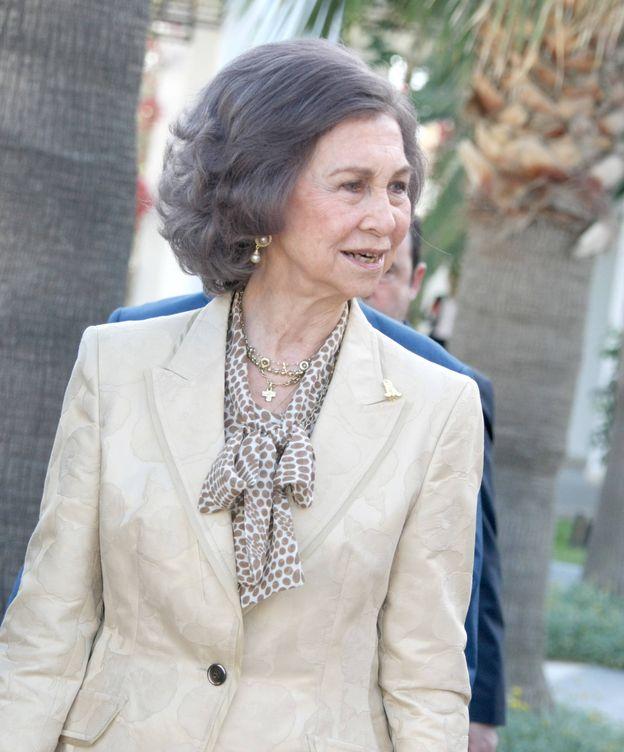 Foto: Doña Sofía, en el acto por el 40 aniversario de la Universidad de Creta. (Gtres)
