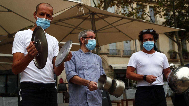 Protestas en Montpellier, Francia. (EFE)