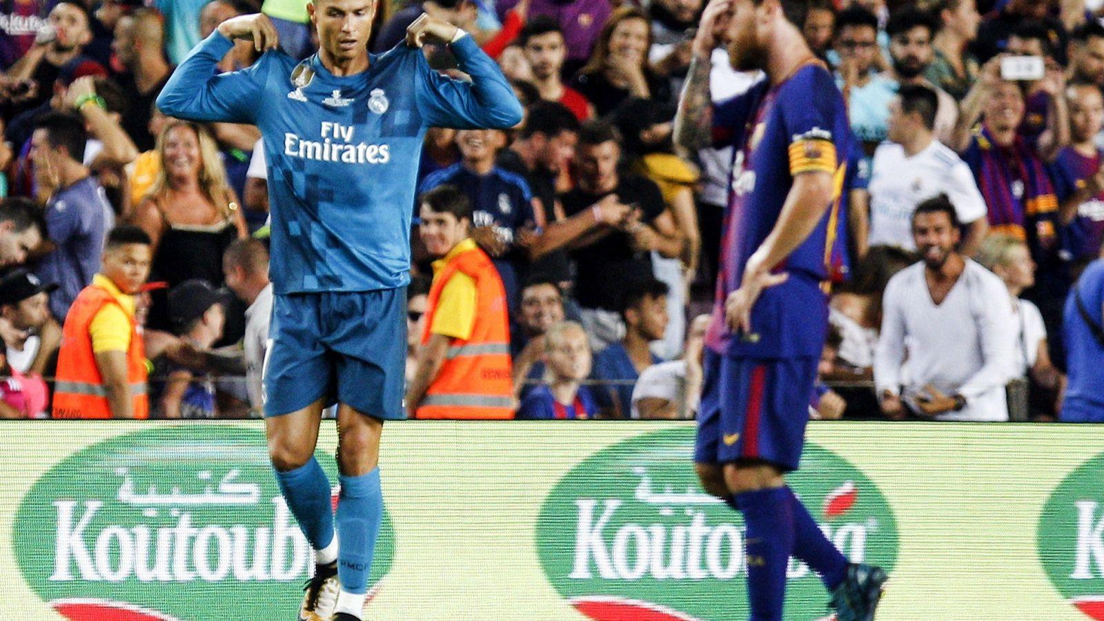 Foto: Cristiano y Messi, en la Supercopa. (EFE)