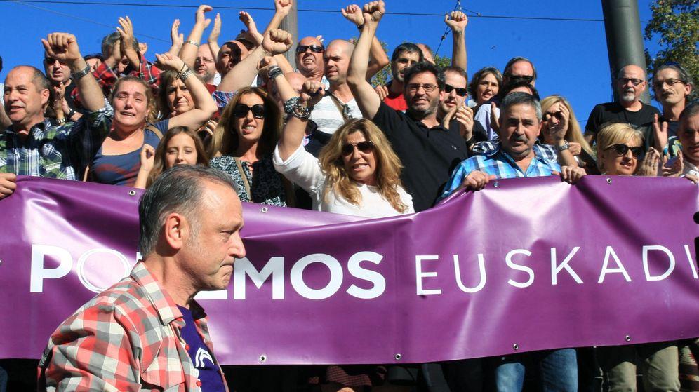 Foto: Simpatizantes de Podemos Euskadi. (EFE)