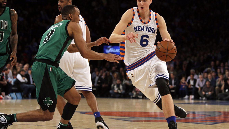 Foto: Porzingis ya es uno de los pilares de los Knicks (Adam Hunger/Reuters)