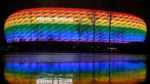La UEFA defiende el veto a la bandera arcoíris en Múnich pero incluye los colores LGTB en su logo