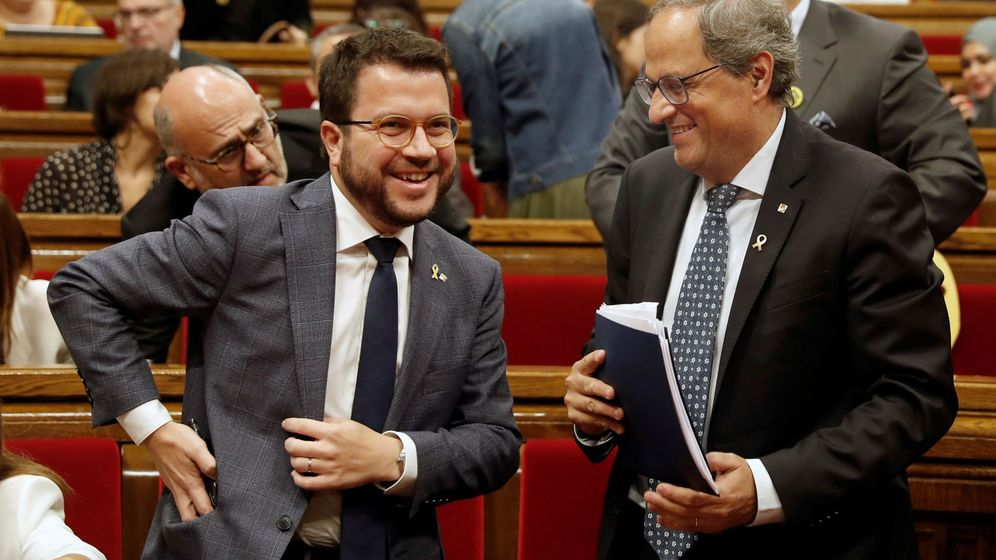 Foto: El 'president' Torra abre el debate de política general en el Parlament.