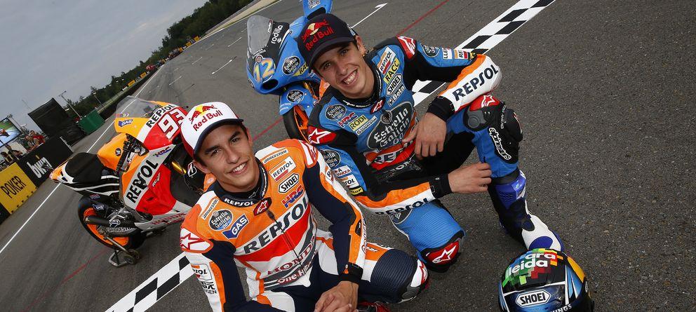 Foto: Marc y Àlex Márquez en el circuito de la República Checa (Repsol Media).