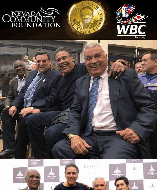 Foto: Miguel Velázquez, Alfredo Evangelista, Poli Díaz y Pepe Legrá. (Foto: WBC)