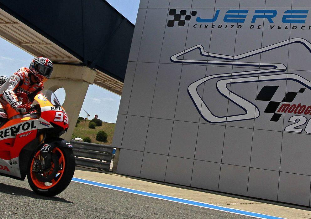Foto: Marc Márquez durante los entrenamientos libres del año pasado el Jerez (Efe).