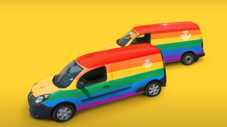 Correos celebra el Orgullo LGTBI con arcoíris en furgonetas, buzones y oficinas