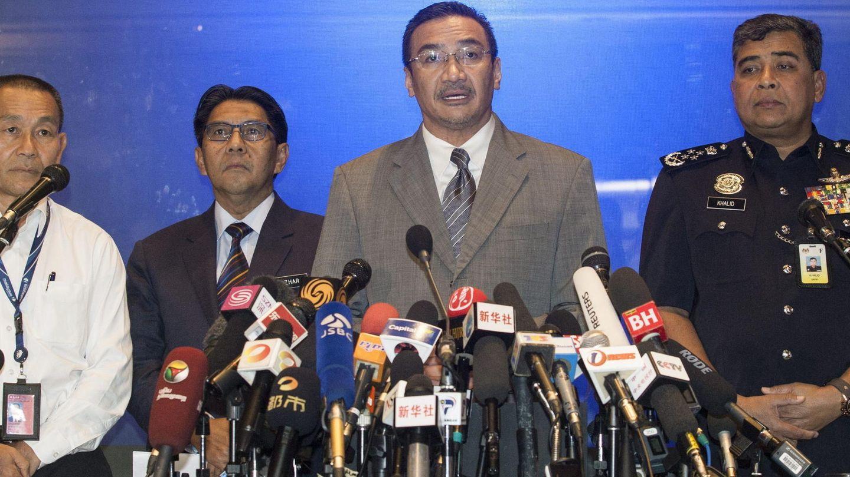El consejero delegado de Malaysia Airlines, Ahmad Jauhari Yahya en rueda de prensa