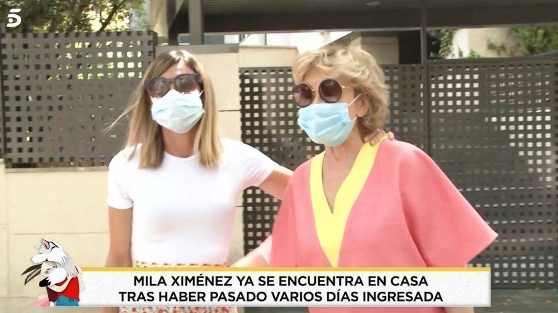 Mila Ximénez con su hija. (Telecinco).