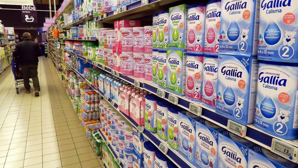 Foto: Productos de leche para bebés en un supermercado francés. (Reuters)
