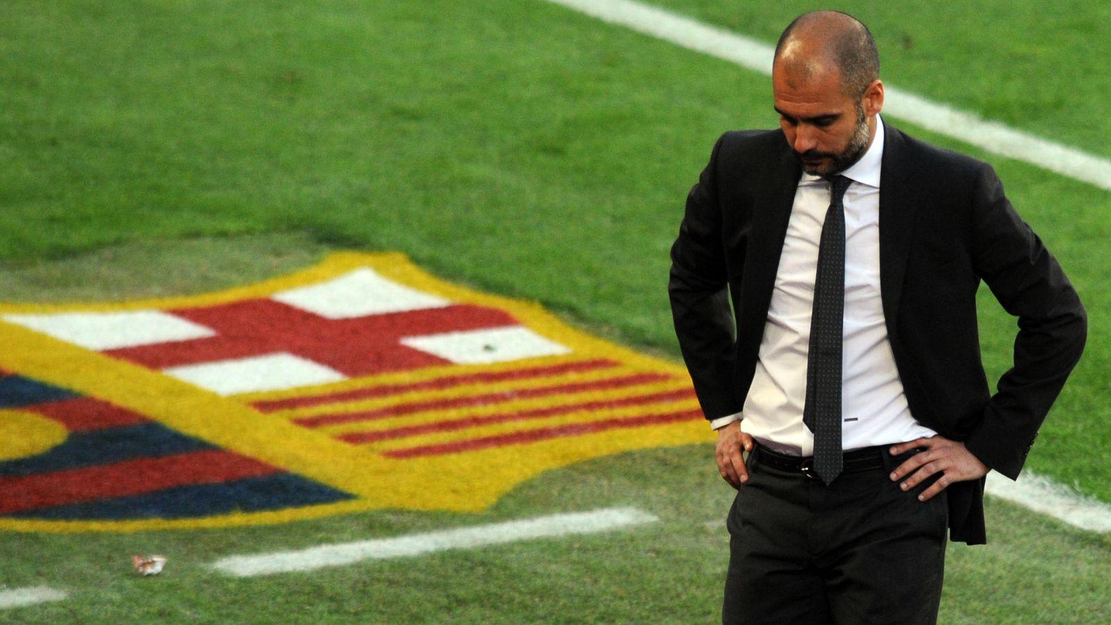 Foto: Guardiola en su etapa como entrenador del Barcelona (Reuters).