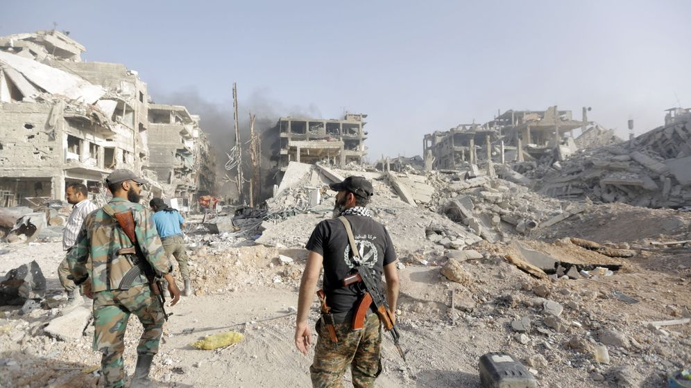Foto: El ejército sirio tras tomar el control de Damasco. (EFE)