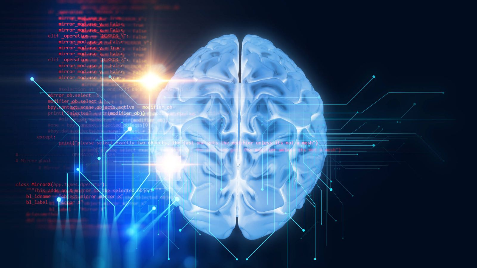 Foto: Ilustración de un cerebro humano.