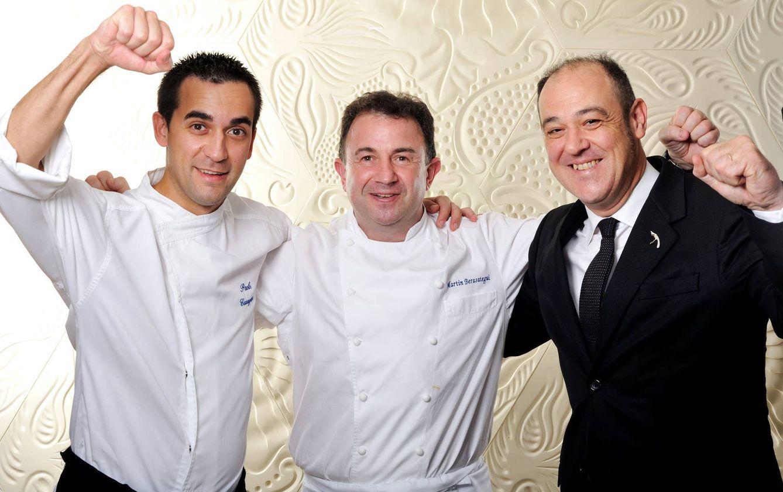 Foto: El triunfo de Lasarte, con Martin Berasategui y el chef Paolo Casagrande