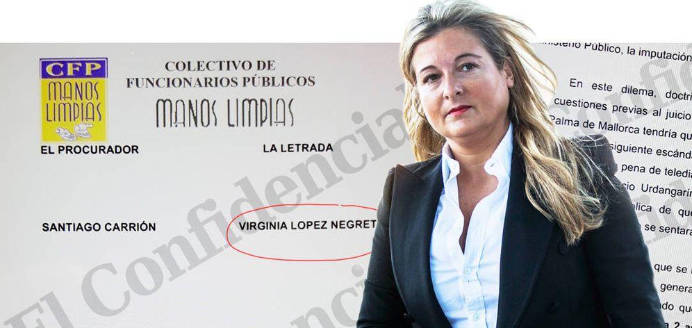 Foto: La abogada de Manos Limpias, Virginia López Negrete. (EC)