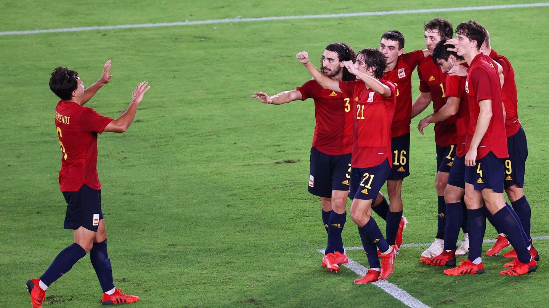 La Selección celebra el empate. (Reuters)
