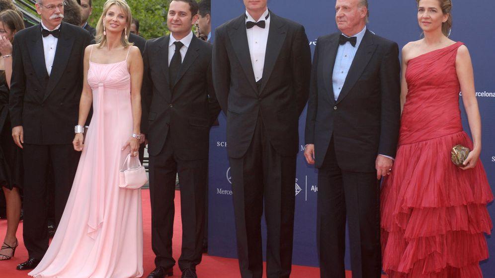 Foto: La princesa Corinna, con Urdangarin, el rey Juan Carlos y la infanta Cristina.
