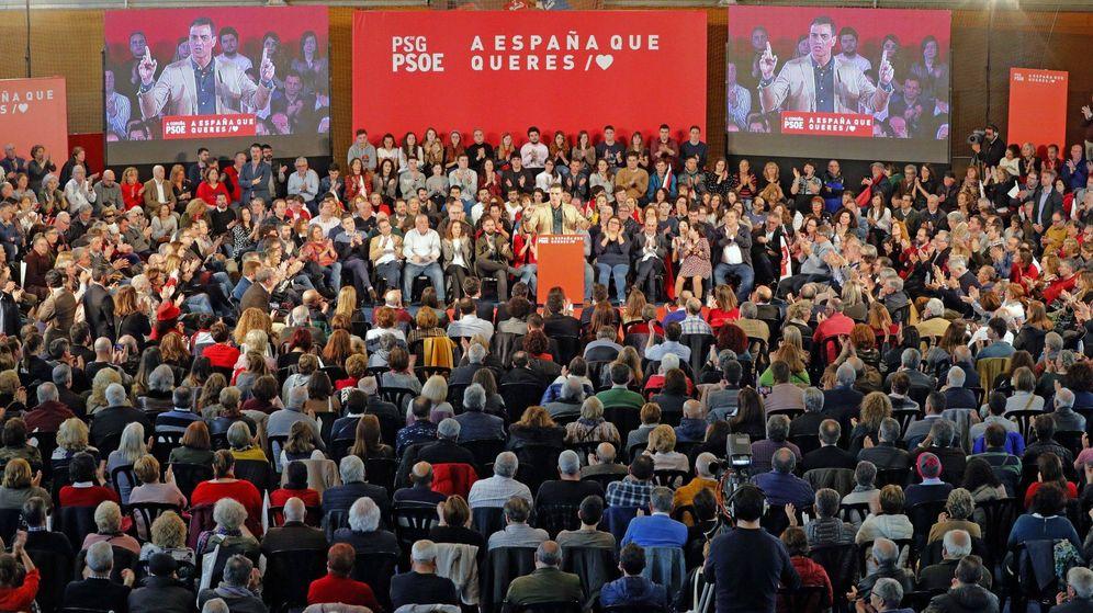 Foto: Pedro Sánchez durante su intervención en un acto del PSOE en A Coruña. (EFE)