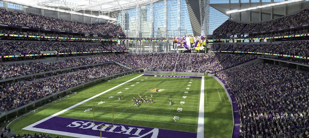 Foto: Imagen del estadio de los Vikings donde se disputará la final de la Super Bowl en 2018 (Foto: Minnesota Vikings).