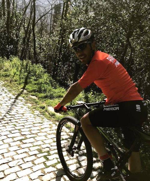 Foto: Purito en una salida en mountain bike (Twitter).