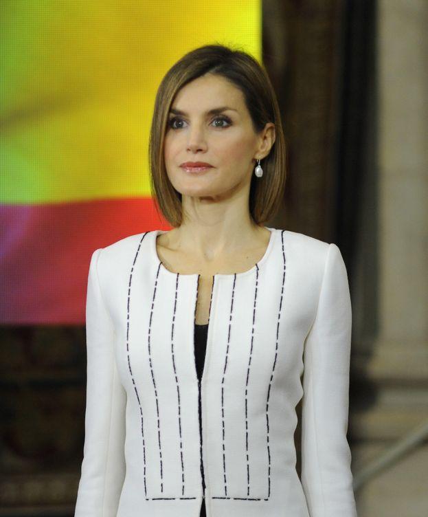 Foto: La Reina Letizia durante el acto celebrado en el Palacio Real (Gtres)